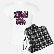 Pink Oilfield Wife Damask Pajamas