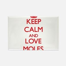 Keep calm and love Moles Magnets