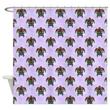 Turtle Ba-Gua Tiled Pattern Shower Curtain