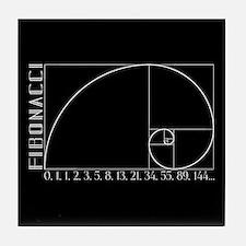 Fibonacci Spiral Tile Coaster