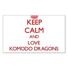 Keep calm and love Komodo Dragons Decal