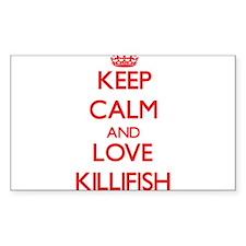 Keep calm and love Killifish Decal