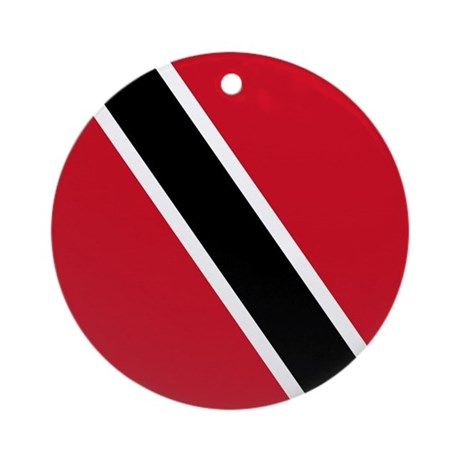 Trinidad Tobago Flag Ornament (Round)