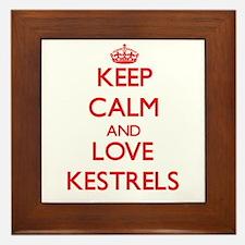 Keep calm and love Kestrels Framed Tile