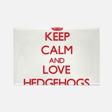 Keep calm and love Hedgehogs Magnets