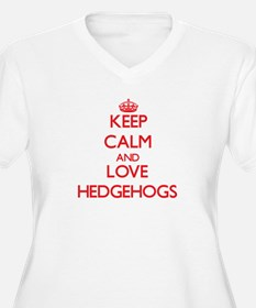 Keep calm and love Hedgehogs Plus Size T-Shirt