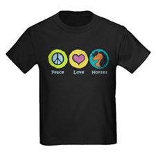 Peace Love Horses T