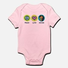 Peace Love Horses Infant Bodysuit