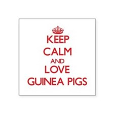 Keep calm and love Guinea Pigs Sticker