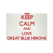 Keep calm and love Great Blue Herons Magnets