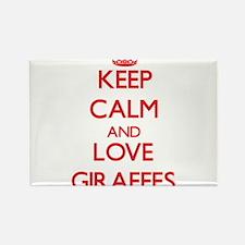 Keep calm and love Giraffes Magnets
