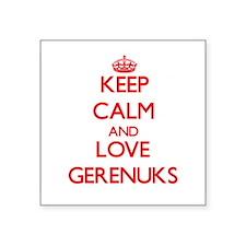 Keep calm and love Gerenuks Sticker