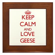 Keep calm and love Geese Framed Tile