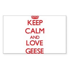 Keep calm and love Geese Decal