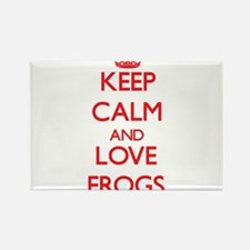 Keep calm and love Frogs Magnets