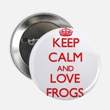 "Keep calm and love Frogs 2.25"" Button"