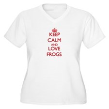 Keep calm and love Frogs Plus Size T-Shirt