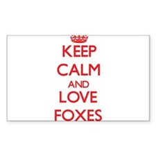 Keep calm and love Foxes Decal