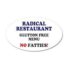 RADICAL RESTAURANT - GLUTTON FREE MENU Wall Sticke