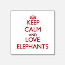Keep calm and love Elephants Sticker
