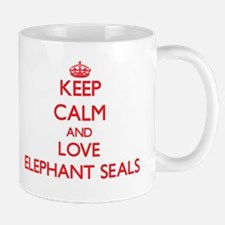 Keep calm and love Elephant Seals Mugs