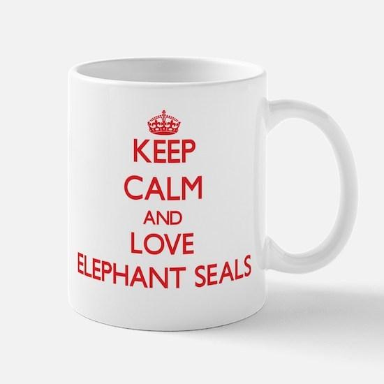 Keep calm and love Elephant Seals Mugs