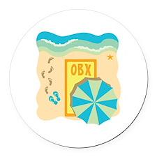 OBX Round Car Magnet
