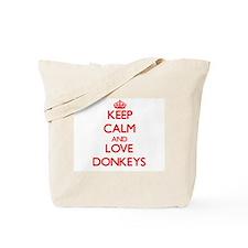 Keep calm and love Donkeys Tote Bag