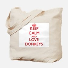 Keep calm and love Donkeys Tote Bag
