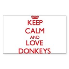 Keep calm and love Donkeys Decal