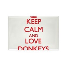 Keep calm and love Donkeys Magnets