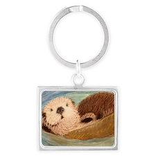 Sea Otter--Endangered Species Landscape Keychain
