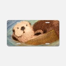 Sea Otter--Endangered Speci Aluminum License Plate