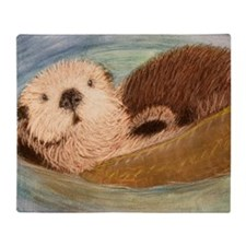 Sea Otter--Endangered Species Throw Blanket