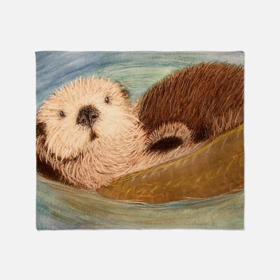 Sea Otter--Endangered Species Throw Blanket