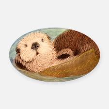 Sea Otter--Endangered Species Oval Car Magnet