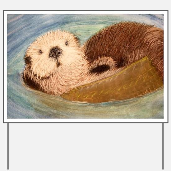 Sea Otter--Endangered Species Yard Sign