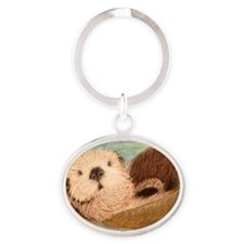 Sea Otter--Endangered Species Oval Keychain