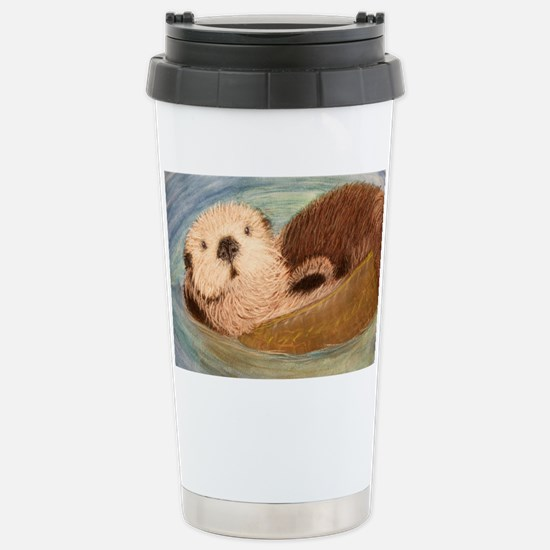 Sea Otter--Endangered S Stainless Steel Travel Mug