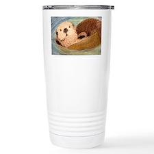 Sea Otter--Endangered S Travel Mug