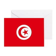 Tunisia Flag Greeting Card