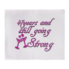 47 and still going strong Throw Blanket