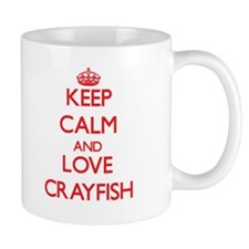 Keep calm and love Crayfish Mugs