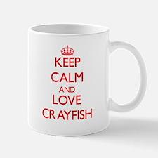 Keep calm and love Crayfish Mugs