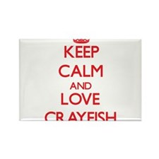 Keep calm and love Crayfish Magnets