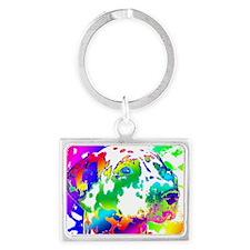 Dalmatian--Abstract Color Desig Landscape Keychain