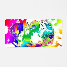 Dalmatian--Abstract Color D Aluminum License Plate
