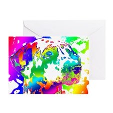 Dalmatian--Abstract Color Design Greeting Card
