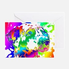 Dalmatian--Abstract Color Design Greeting Card