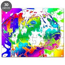 Dalmatian--Abstract Color Design Puzzle